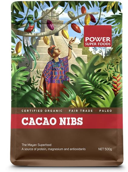 POWER SUPER FOODS ORGANIC CACAO RAW NIBS