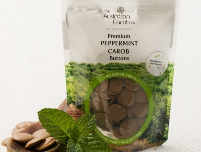 PEPPERMINT CAROB BUTTONS