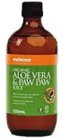 ORGANIC ALOE VERA AND PAW PAW JUICE