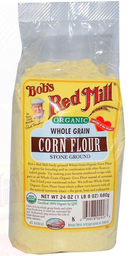 ORGANIC WHOLE GRAIN CORN FLOUR STONE GROUND