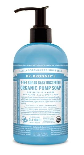 4 IN 1 SUGAR BABY UNSCENTED ORGANIC PUMP SOAP