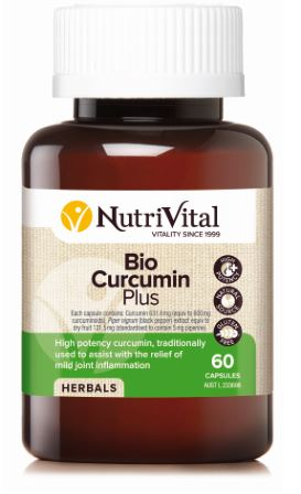 NUTRIVITAL CURCUMIN PLUS WITH BIO-P