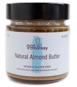 99TH MONKEY NATURAL ALMOND BUTTER