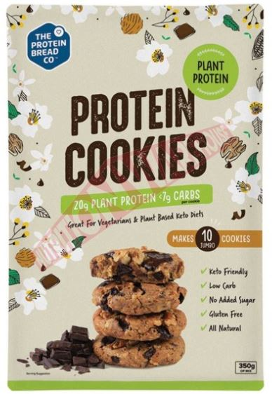 PLANT PROTEIN COOKIES BY PROTEIN BREAD CO 350g