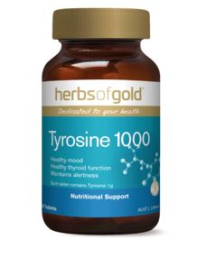 HERBS OF GOLD TYROSINE 1000 60Tabs