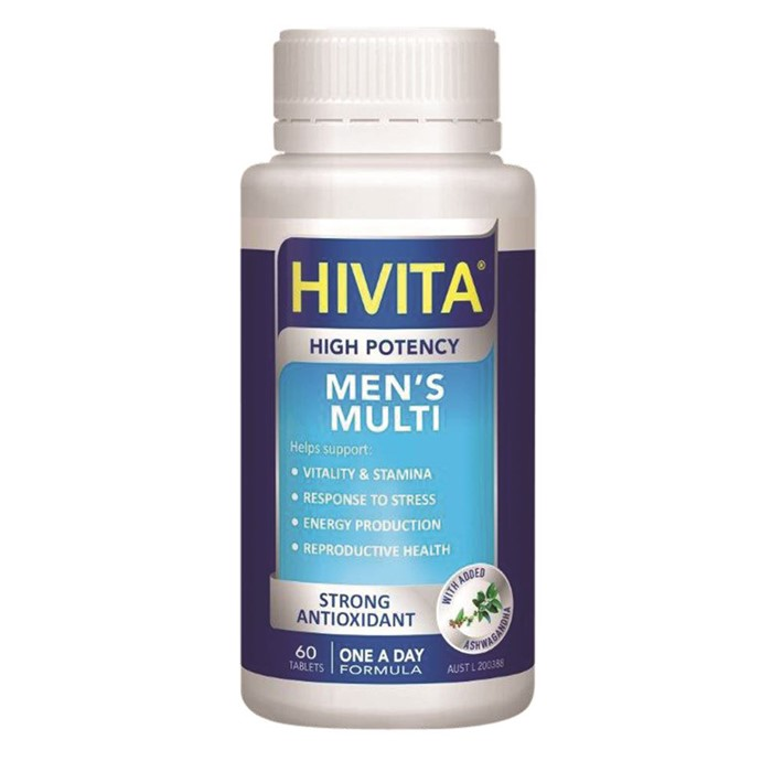 Hivita Men's Multi (High Potency) 60t