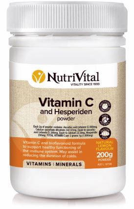 NUTRIVITAL VITAMIN C AND HESPERIDIN POWDER