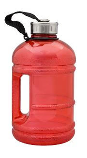 1.89 LITRE BPA FREE WATER BOTTLE RED